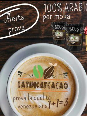 OFFERTA 2X1: 2 CAFFÉ MOKA 100% ARÁBICA + 1 MOKA MISCELA ARÁBUS SUBITO IN OMAGGIO